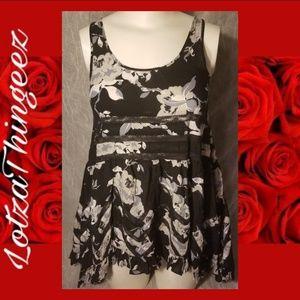 FREE People Intimately S Black Lace Rose Chemise